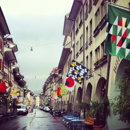 Bern Biennale 53 Flags on Rathausgasse